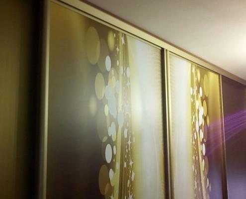 Юлия интересовалась, возможно ли заклеить её шкаф и скрыть все повреждения стеклянных дверей. Для нашей компании нет ничего невозможного и мы договорились о встрече.
